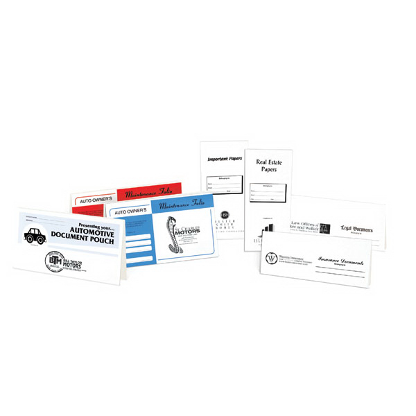 Imprinted Custom Document Pouches