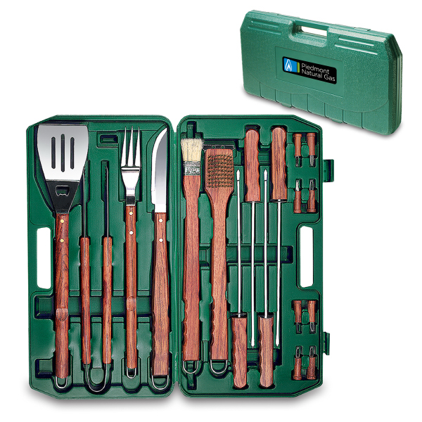 Custom 18-piece BBQ set