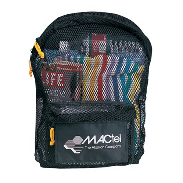 Imprinted All mesh backpack