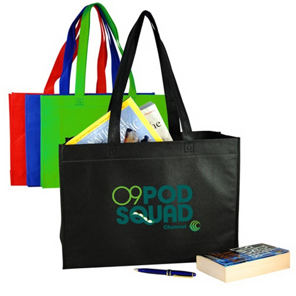 Personalized Nonwoven Tote with Full Gusset