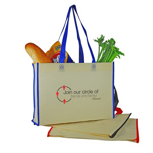 Custom Two-Tone Nonwoven Shopping Tote