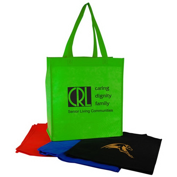 Imprinted Vertical Nonwoven Shopping Tote