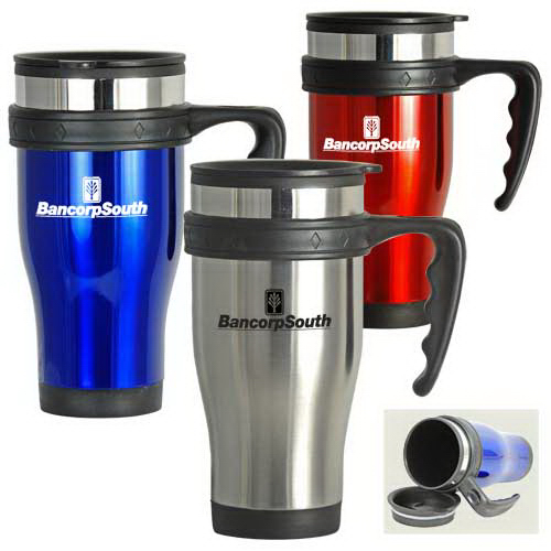 Personalized 16 oz Contour Stainless Steel Travel Mug