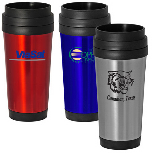 Imprinted 16 oz Classic Stainless Steel Travel Mug