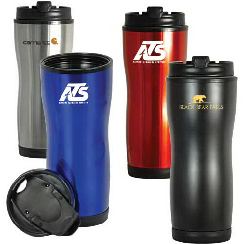Promotional 16 oz Contour Stainless Steel Tumbler