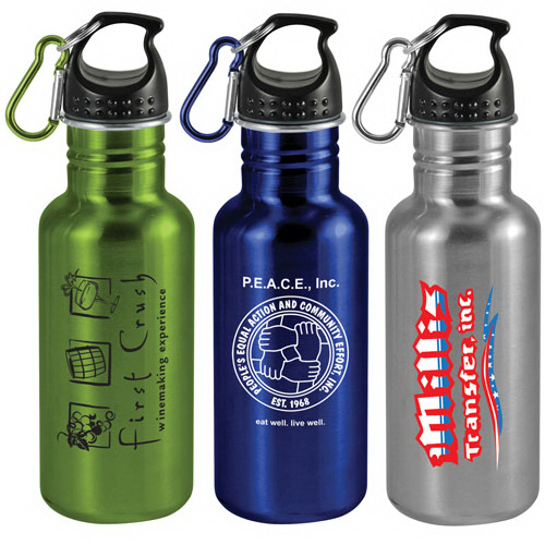 Printed 20 oz Wide-Mouth Stainless Steel Sports Bottle
