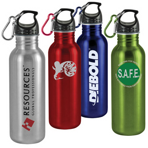Custom 25 oz Wide-Mouth Stainless Steel Sports Bottle