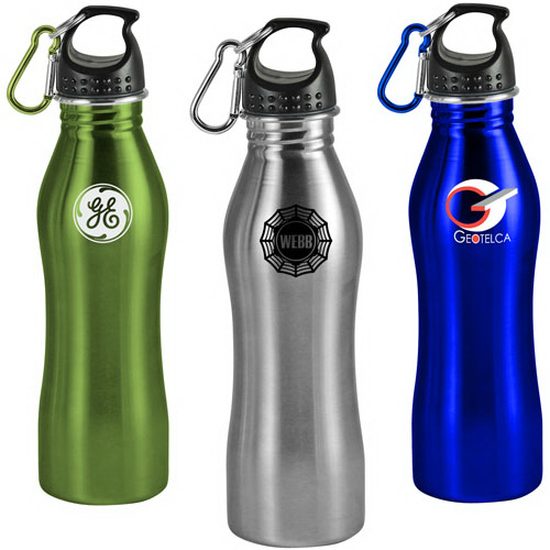 Printed 25 oz Contour Stainless Steel Sports Bottle