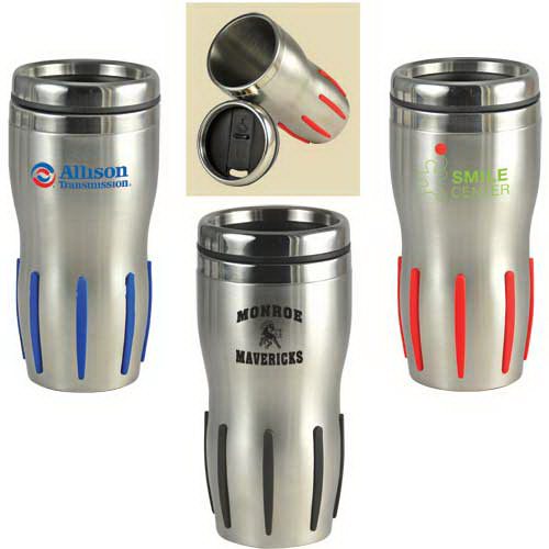 Printed Comfort Grip Stainless Steel Double Wall Tumbler