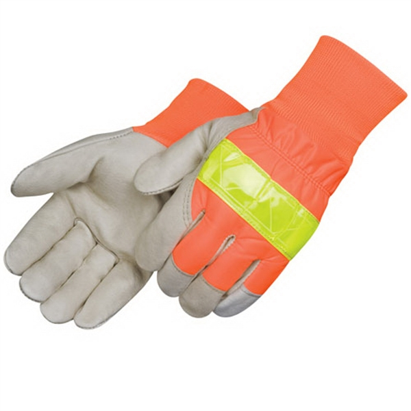 Imprinted Safety grain pigsking driver gloves