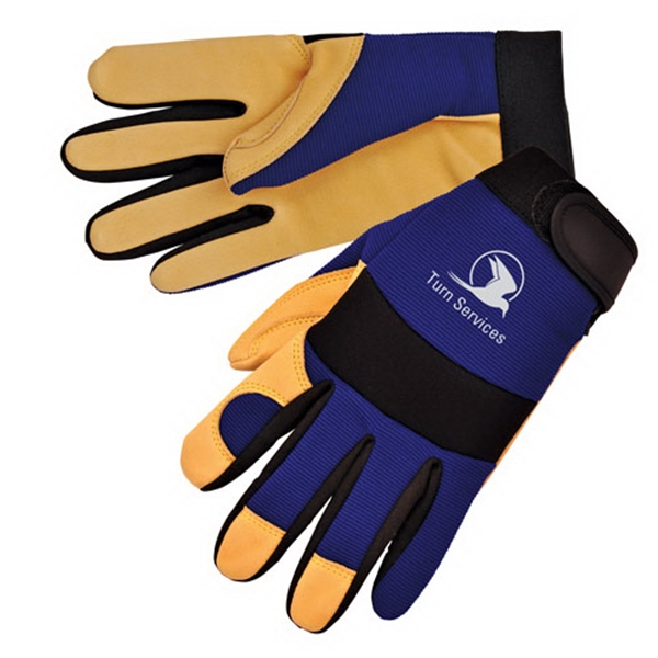 Promotional Tan grain pigskin full palm mechanic gloves