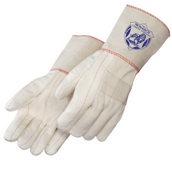 Personalized Heavy Weight Hot Mill Gloves with Burlap Lining