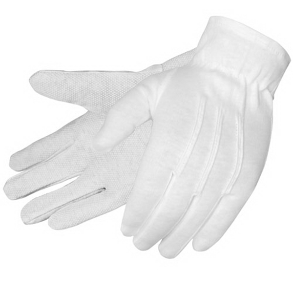 Custom Formal white dresss gloves with PVC dots