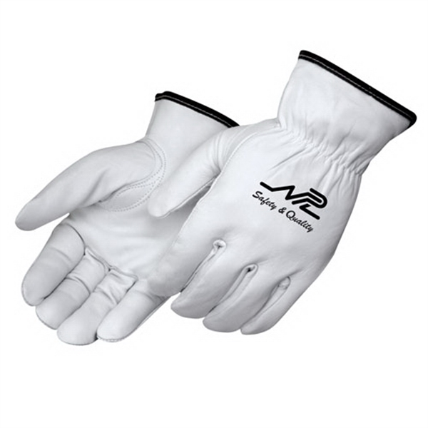 Promotional Premium grain goatskin driver gloves with fleece lining