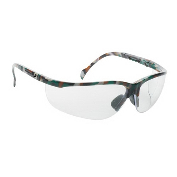 Promotional Wrap around safety glasses with clear lens