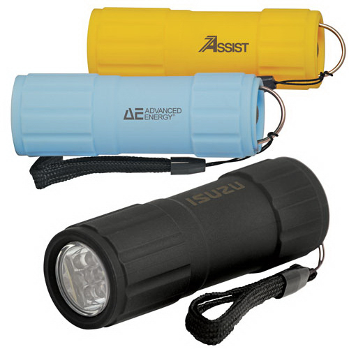 Promotional Water and shock resistant 3-function flashlight