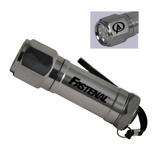 Personalized 8 ultra violet LED non rolling flashlight