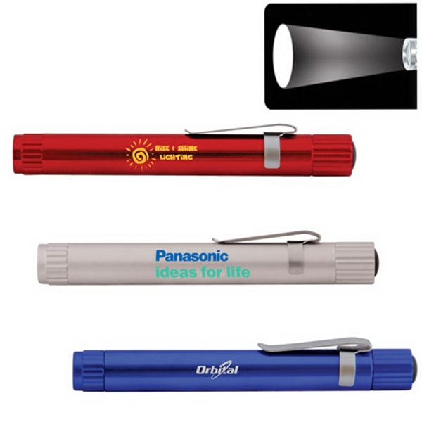 Promotional Pen Size Focus Lens LED Flashlight with Clip