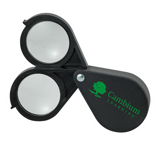 Imprinted 20x Double-Lens Folding Magnifier