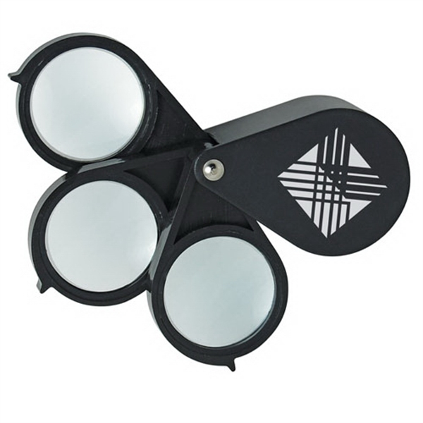 Promotional Triple-Lens Folding Magnifier
