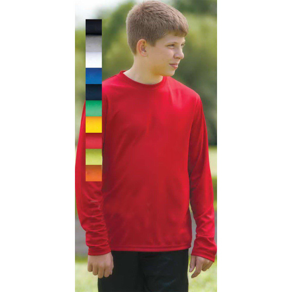 Imprinted Youth Chicago Long Sleeve Syntrel(TM) Training Tee