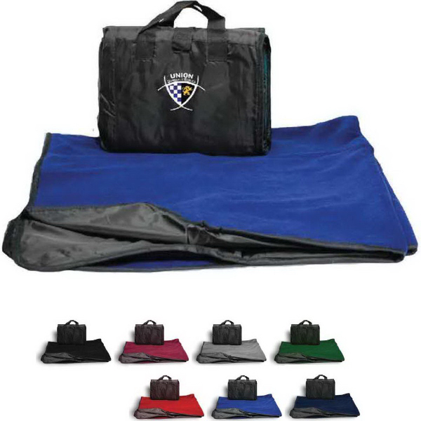 Promotional Picnic Fleece Blanket - Solid