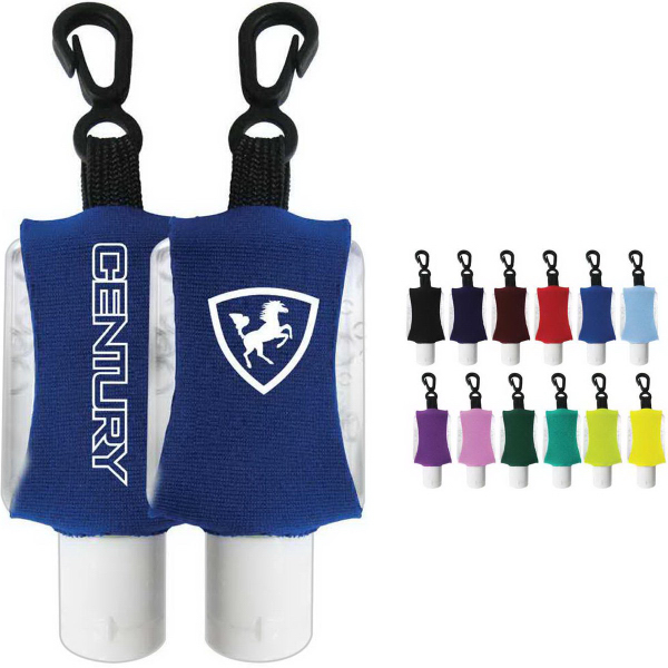Imprinted Antibacterial Hand Sanitizer Gel with Custom Leash / Sleeve