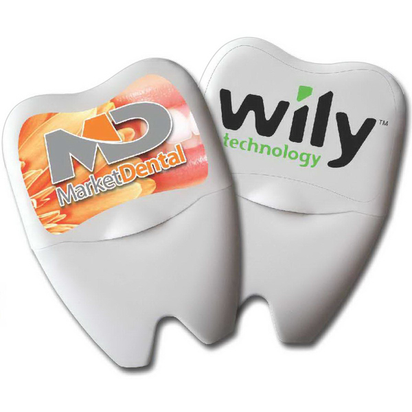 Promotional Large Tooth Shaped Dental Floss