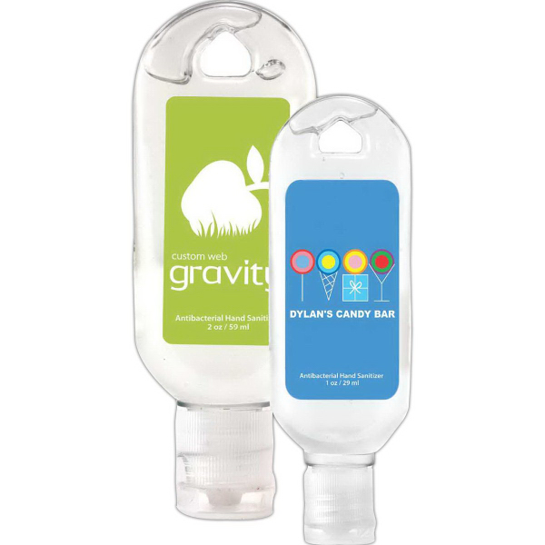 Promotional 2 oz Tottle Antibacterial Hand Sanitizer Gel