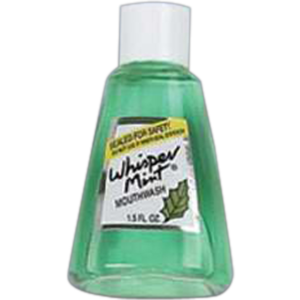 Imprinted Mouthwash, Whispermint bottle (1.5 oz)