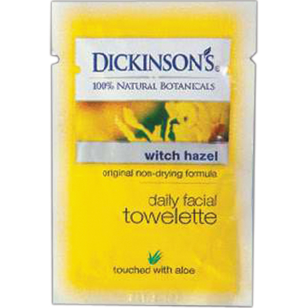 Imprinted Facial towelette-Dickenson's
