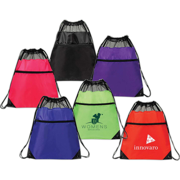 Promotional Mesh drawstring backpack
