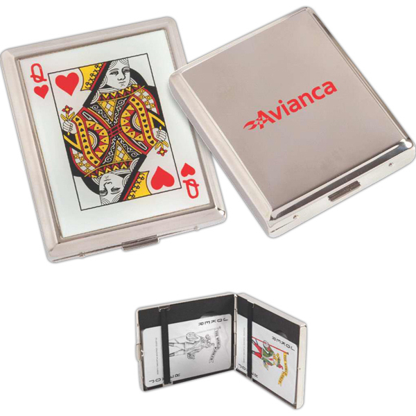 Imprinted Everywhere playing card set and case