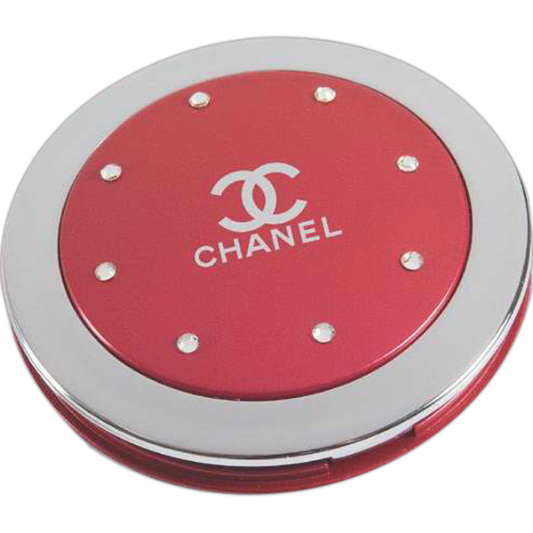 Customized Swarovski crystal fashion compact mirror