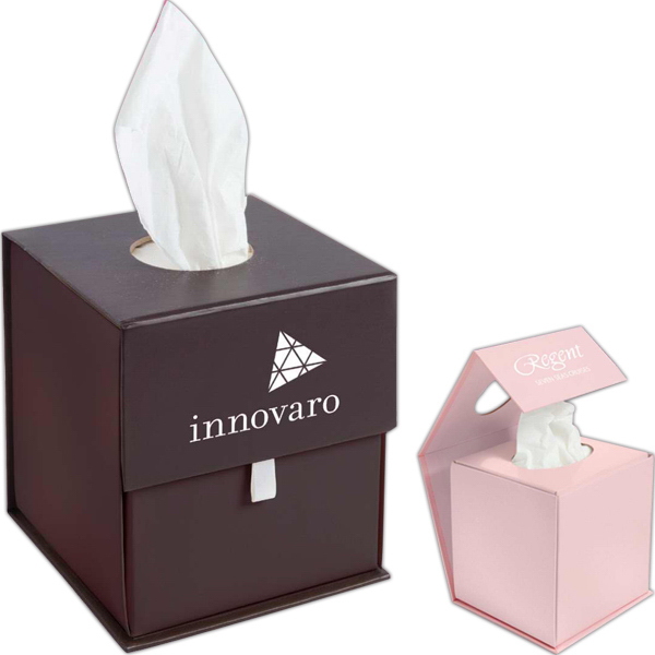 Imprinted Origami folding tissue container