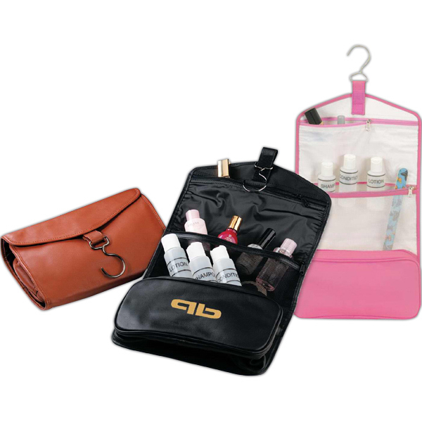 Promotional Fine leather elegant toiletry bag
