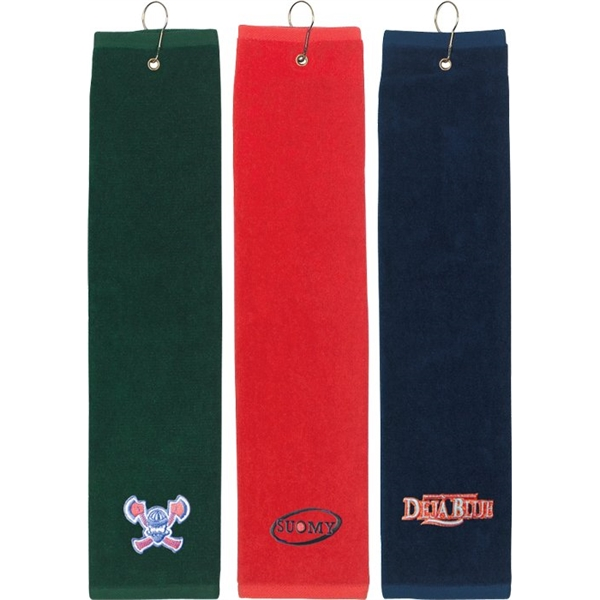 "Imprinted Tri Fold Golf Towel (16"" x 22"")"