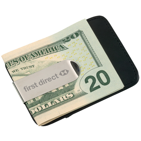 Customized Money Clip Card Case