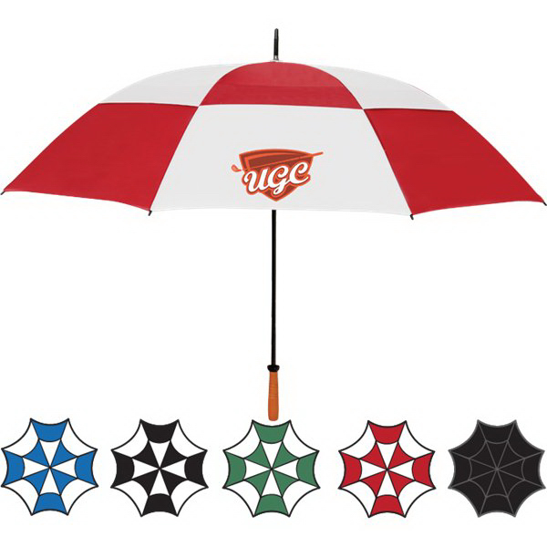 "Customized 68""  Vented Golf Umbrella"