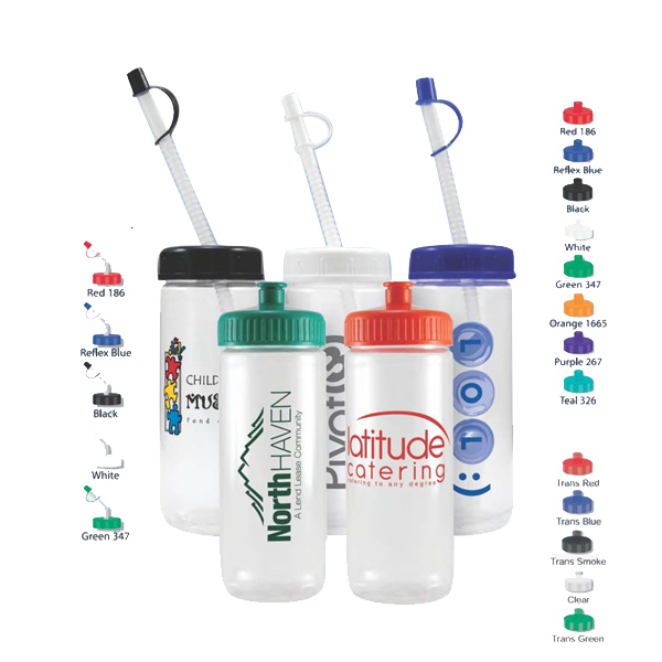 Custom 16 oz Crystal Clear Sports Bottle
