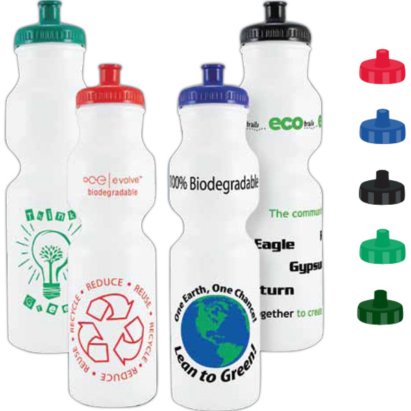 Imprinted 28 oz Biodegradable Bike Bottle