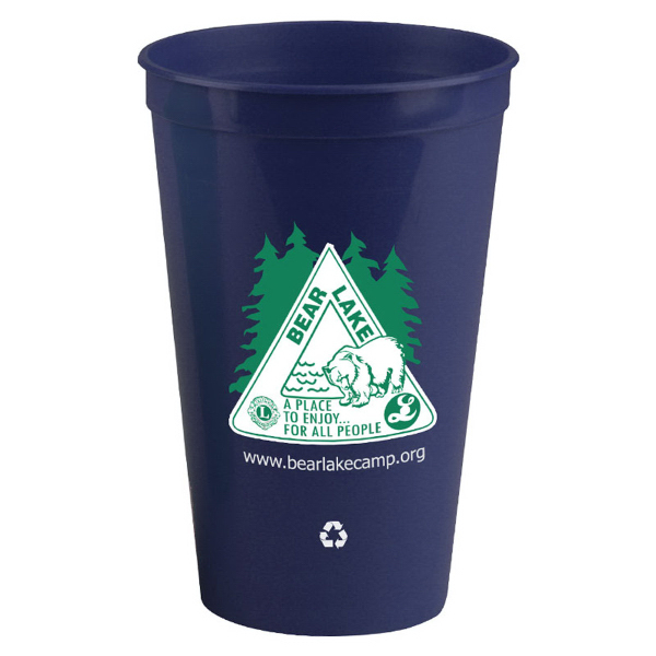 Imprinted 20 oz recycled stadium cup