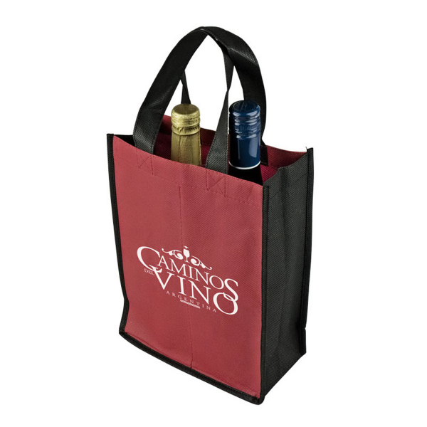Customized Duet Two Bottle Wine Tote