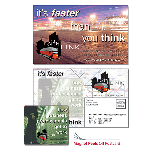 Customized Magna-Peel Postcard (8.5x5.25) with 3.5x4 Magnet