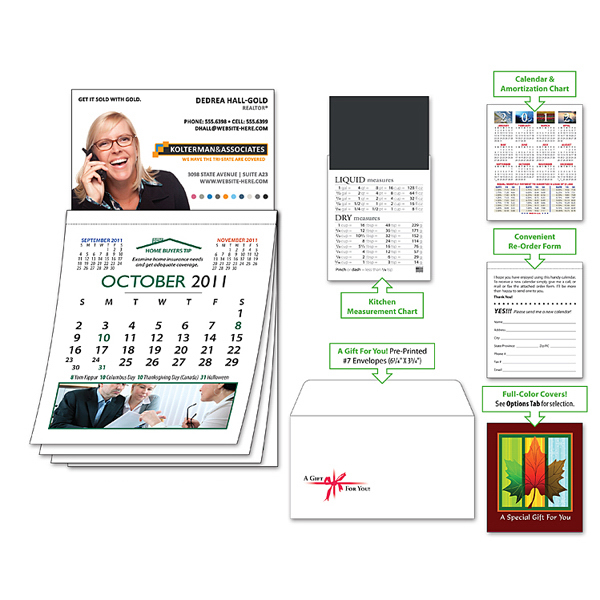 Imprinted Magna-Cal Business Card Magnet R.E. Calendar - Oct. 2012