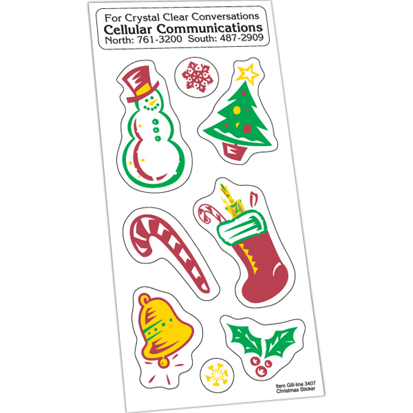Imprinted Holiday Stickers