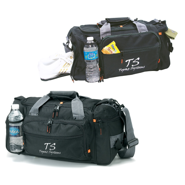 Custom Deluxe Sports / Duffel Bag with Bottle Holder