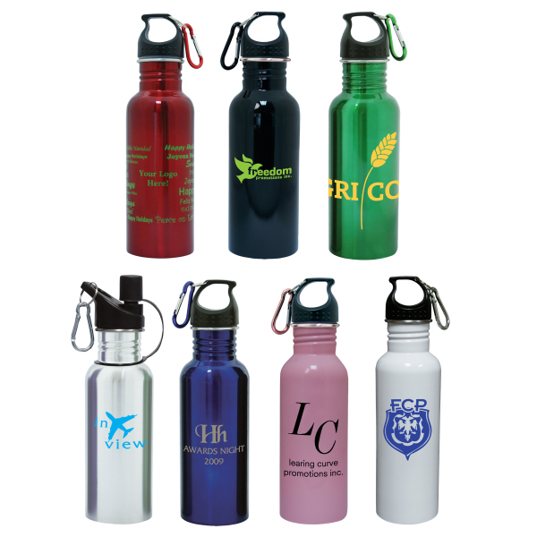 Printed 24 oz. / 709ml stainless steel water bottle
