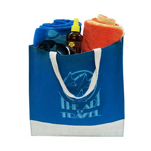 Imprinted Fashion Jute Tote Bag