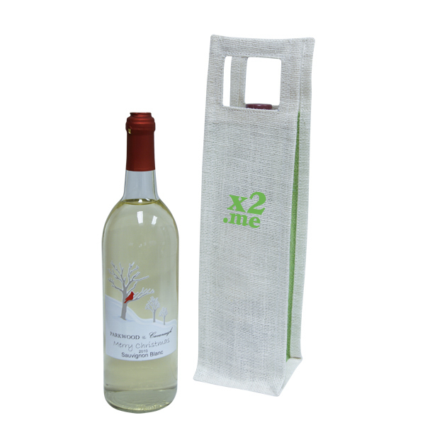 Printed Single Wine Tote Bag